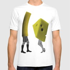 Because she's the cheese and I'm the macaroni MEDIUM Mens Fitted Tee White