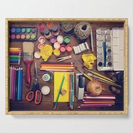 Art Supplies Serving Tray