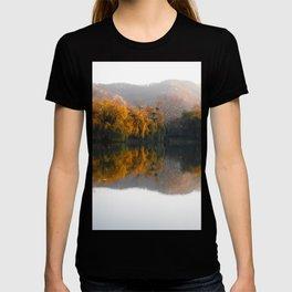 Autumn landscape on the lake. T-shirt