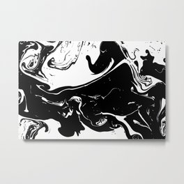 Black liquid ink 4 Metal Print