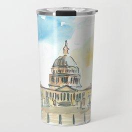 Washington DC Capitol At Sunset Travel Mug
