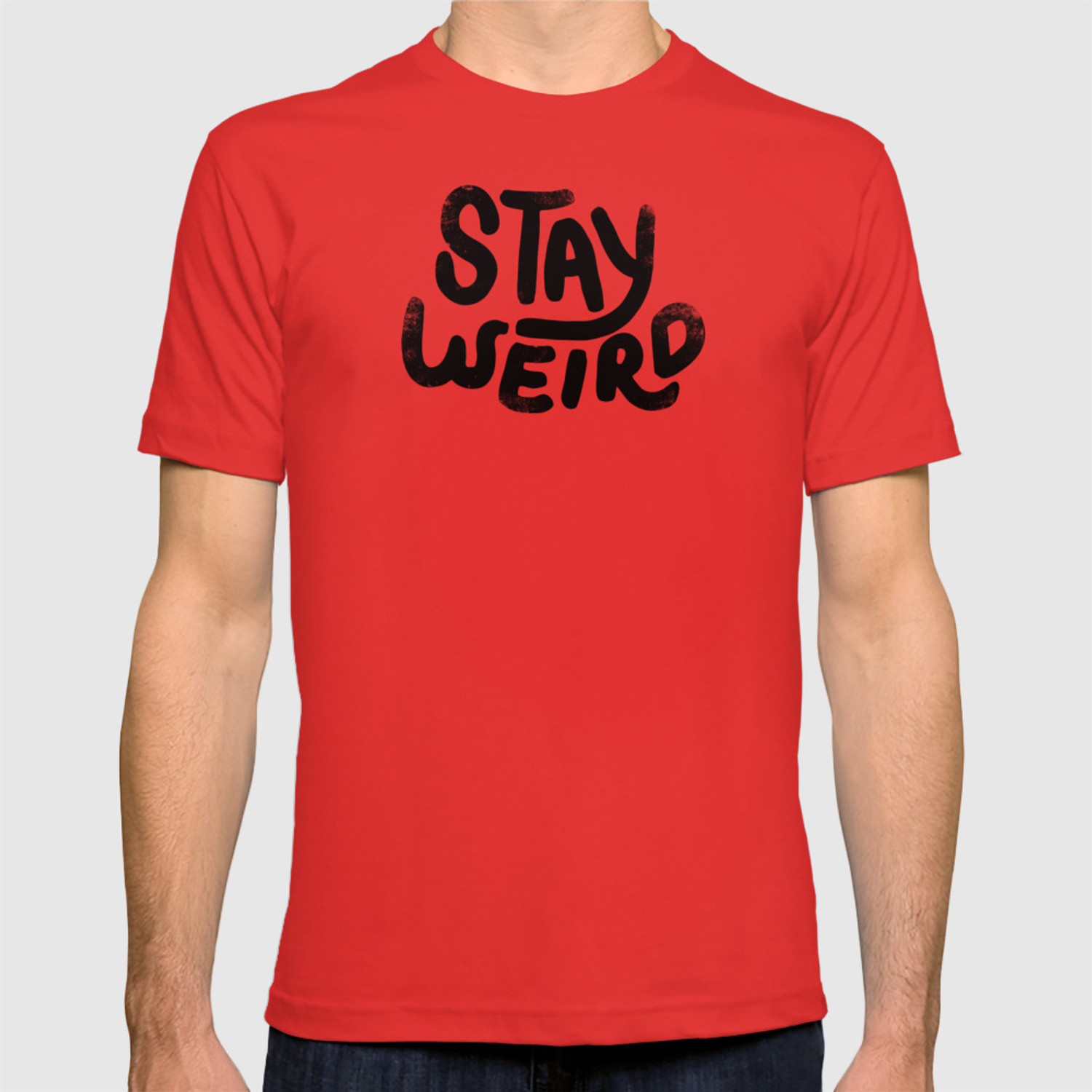 203713dd1 Stay Weird Vintage T-shirt by phirst | Society6