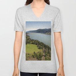 Columbia River Gorge Washington Unisex V-Neck