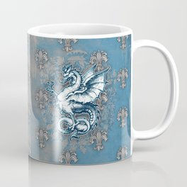 Noble House STEEL BLUE / Grungy heraldry design Coffee Mug