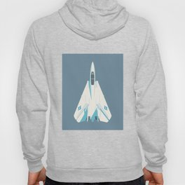 F14 Tomcat Fighter Jet Aircraft - Slate Hoody