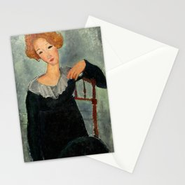 """Amedeo Modigliani """"Woman with Red Hair"""" (1917) Stationery Cards"""