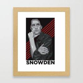 Edward snowden Framed Art Print
