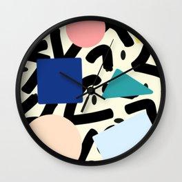 Burros de colores Wall Clock