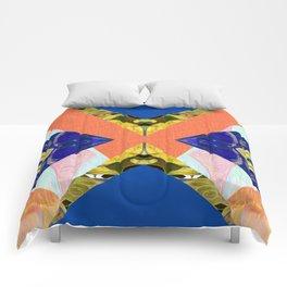 Bizarre Abstract Geometric Collage Pop Art Comforters