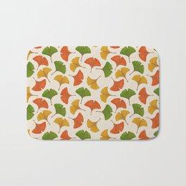 Fall ginkgo biloba leaves pattern Bath Mat