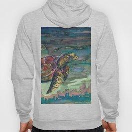 sea turtle watercolor Hoody