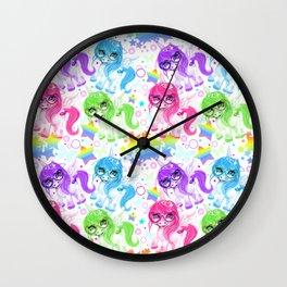 Rainbow CutieCorn Pattern Wall Clock