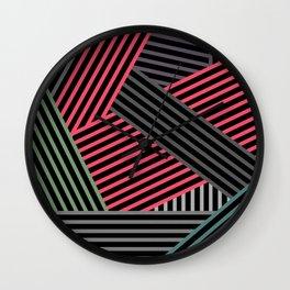 Combined stripe pattern Wall Clock