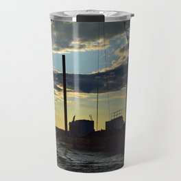 Sunset Over the Barge Travel Mug
