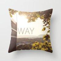 norway Throw Pillows featuring Way, Norway by Hana Savana