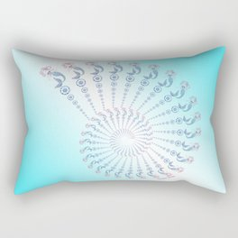 Tribal Mermaid Spiral Shell Turquoise Rectangular Pillow