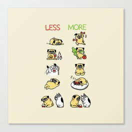 New Years Resolution with The Pug Canvas Print