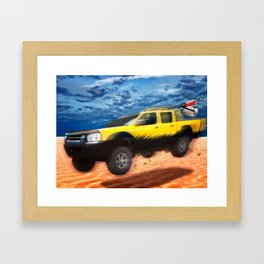 VivaChas Beach Adventure and the Yellow Dog Pickup Framed Art Print