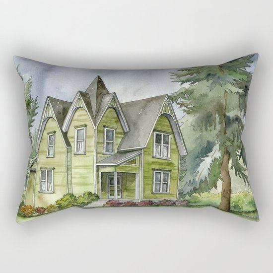 The Green Clapboard House Rectangular Pillow