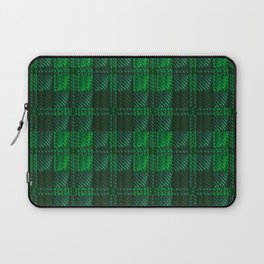 Dark Green Tartan Laptop Sleeve
