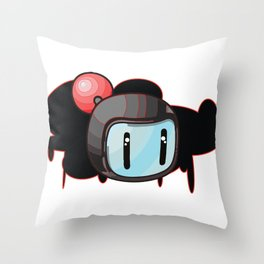 The Red Bomber  Throw Pillow