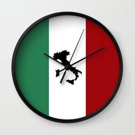 Italian Flag & Boot Wall Clock