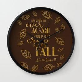 Crisp in the Fall Brown Wall Clock
