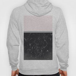 Grey Black Marble Meets Romantic Pink #1 #decor #art #society6 Hoody