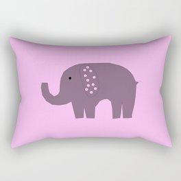Grey Elephant on Pink Rectangular Pillow