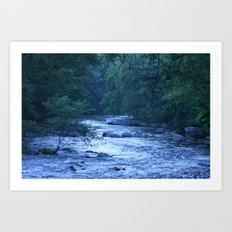River in Blue Art Print