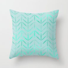 aqua neon blue color Throw Pillow