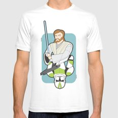 Obi-wan and Clone Trooper Mens Fitted Tee SMALL White