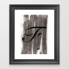 - F - Framed Art Print
