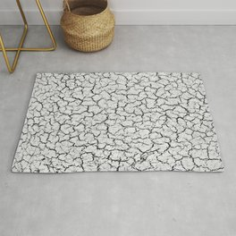 Cracked Abstract Print Texture Rug
