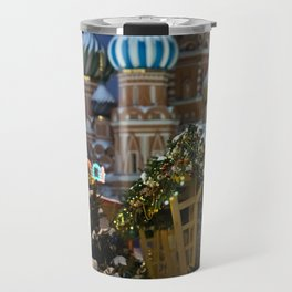 Moscow in Christmas, Russia Travel Mug