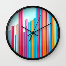 Colorful Rainbow Pipes Wall Clock