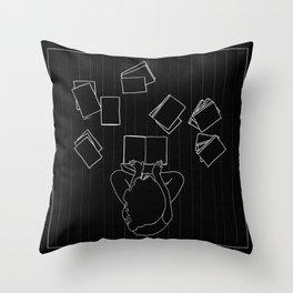 Avid book lover Throw Pillow