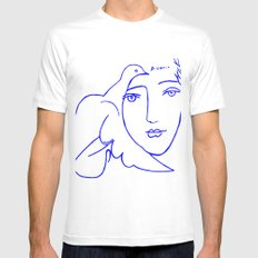 Dove Face by Picasso White Mens Fitted Tee X-LARGE
