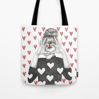 valentine Tote Bags featuring Valentine by Sara Elan Donati