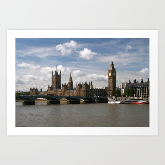 Houses of Parliament, London, UK Art Print