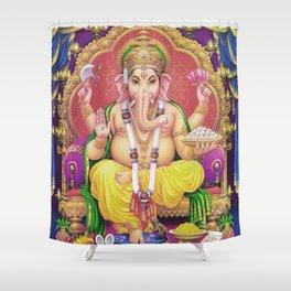 Ganesha Deluxe Shower Curtain