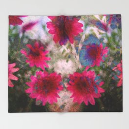 flowers abstract Throw Blanket