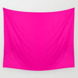 Neon Pink Solid Colou Wall Tapestry