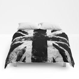 Black Grunge England flag Comforters