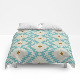 NATIVE NATURAL PLUS TURQUOISE Comforters