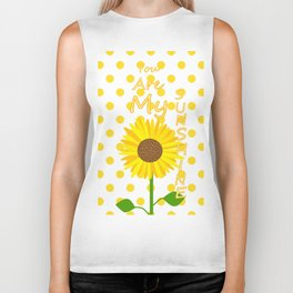 Inspired Sunshine Quote Biker Tank