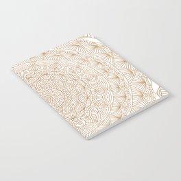 Brown Tan Intricate Detailed Hand Drawn Mandala Ethnic Pattern Design Notebook