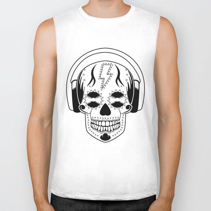 Groovy Skull Biker Tank