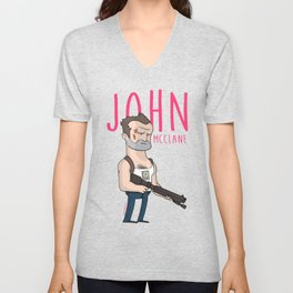 7 - John McClane Unisex V-Neck
