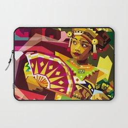 Balinese Dancer in WPAP Laptop Sleeve